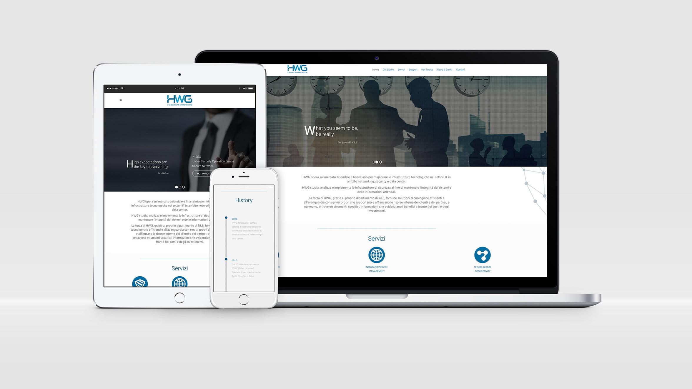 Moodie Comunicazione - Sito web Istituzionale HWG